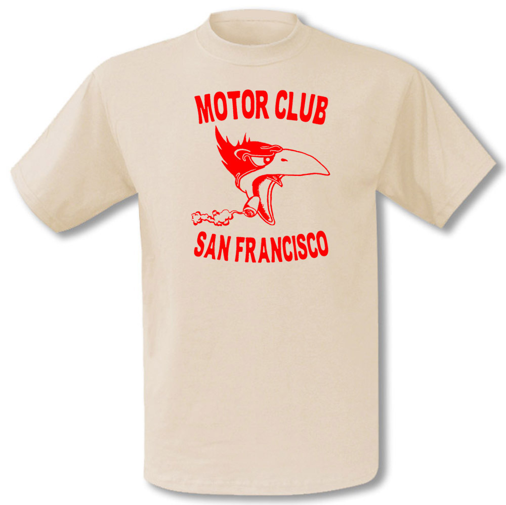 Vintage Motoor Club T-Shirt San Francisco Motorcyles Chopper Hot Rod