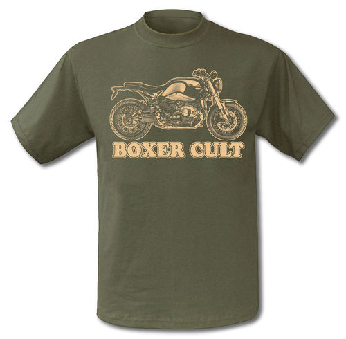 T-Shirt Motorrad RnineT BMW Cafe Racer Modern Classic Style in oliv
